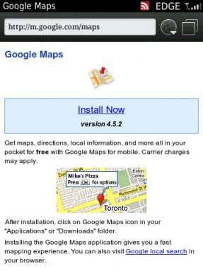 Google Maps App For BlackBerry Updated To Version 4.5.2 ... on smartphone map app, best iphone map app, nokia map app, gps map app,